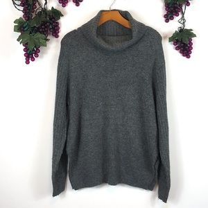 Topshop gray turtleneck knit pullover sweater